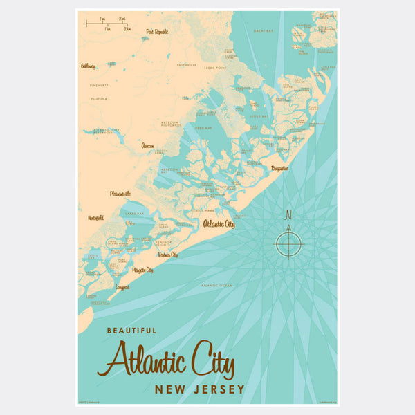 Atlantic City New Jersey, Paper Print