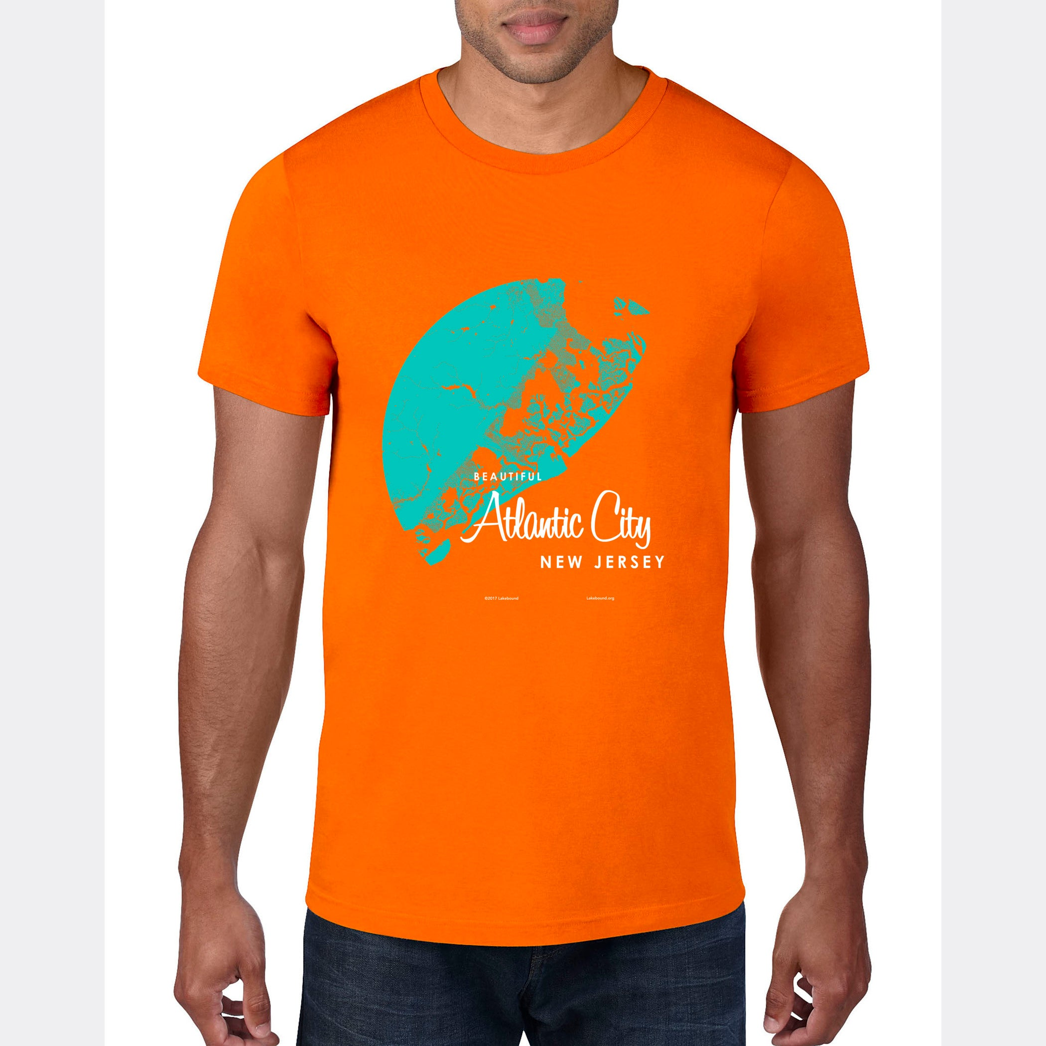 Atlantic City New Jersey, T-Shirt Map Art