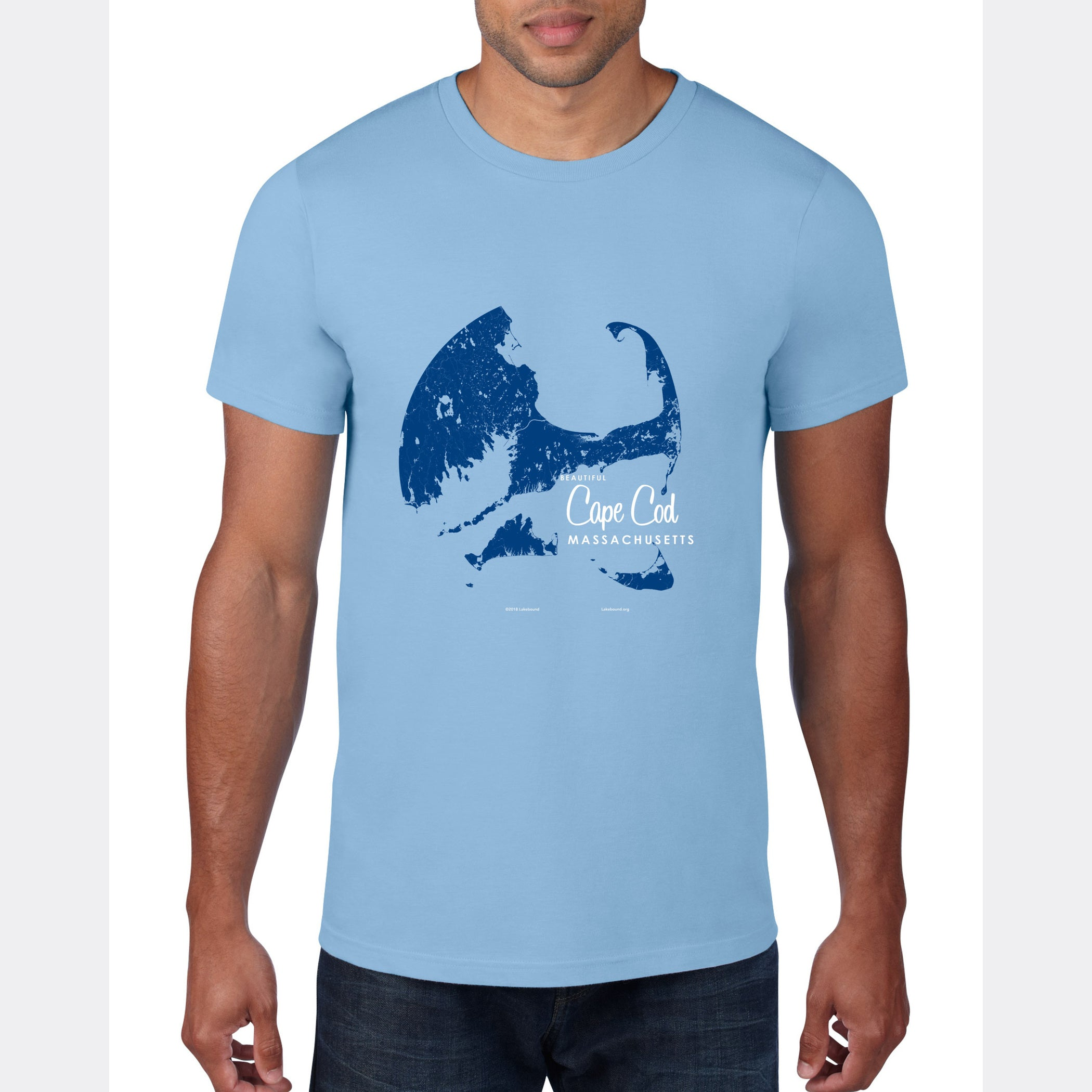 Cape Cod Massachusetts, T-Shirt Map Art