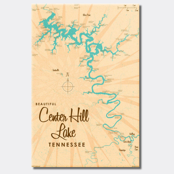 Center Hill Lake, Tennessee, Canvas Print
