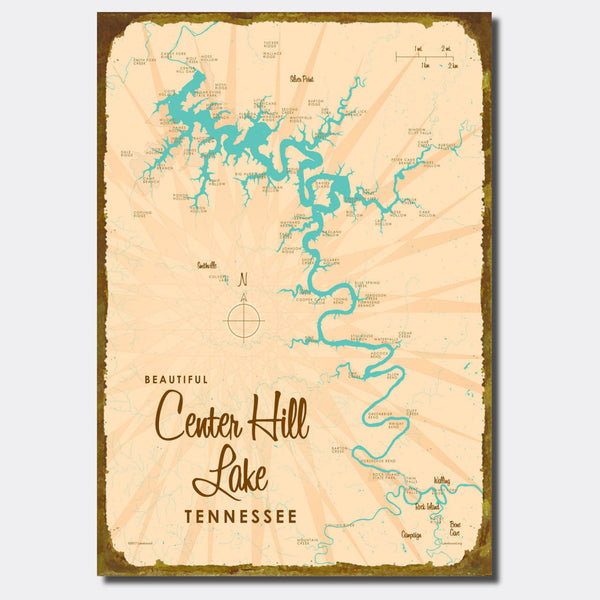 Center Hill Lake, Tennessee, Sign