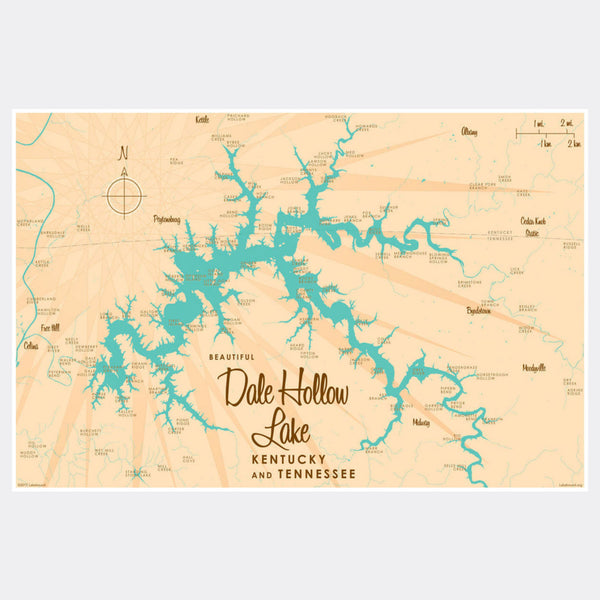 Dale Hollow Lake, Kentucky & Tennessee, Paper Print