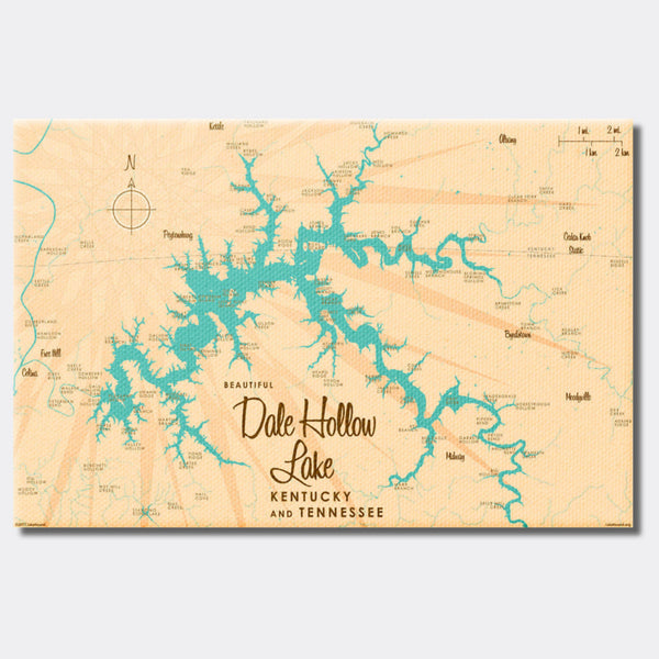 Dale Hollow Lake, Kentucky & Tennessee, Canvas Print