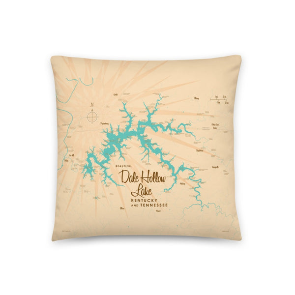 Dale Hollow Lake Kentucky Tennessee Pillow