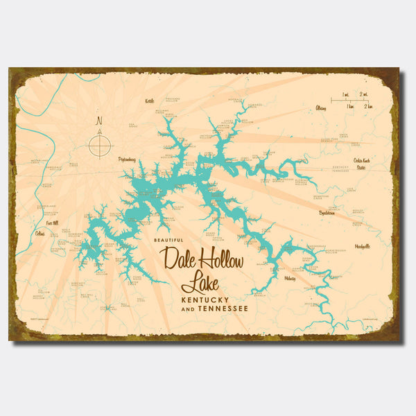 Dale Hollow Lake, Kentucky & Tennessee, Sign