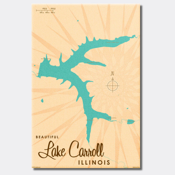 Lake Carroll Illinois, Canvas Print