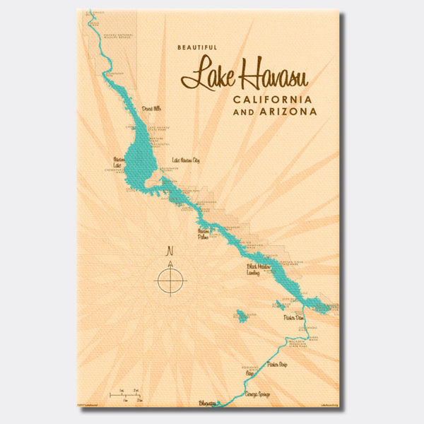 Lake Havasu, California & Arizona, Canvas Print