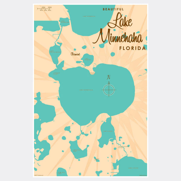 Lake Minnehaha, Florida, Paper Print