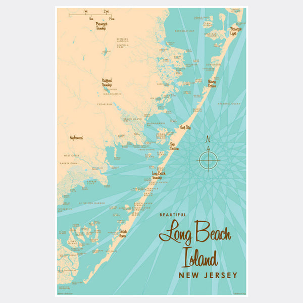 Long Beach Island, New Jersey, Paper Print