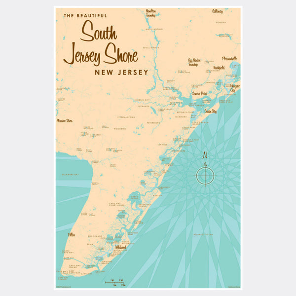 South Jersey Shore, Paper Print
