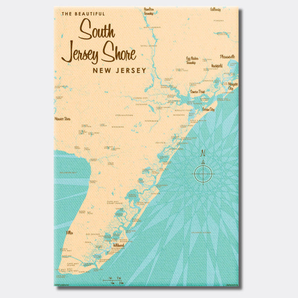 South Jersey Shore, Canvas Print