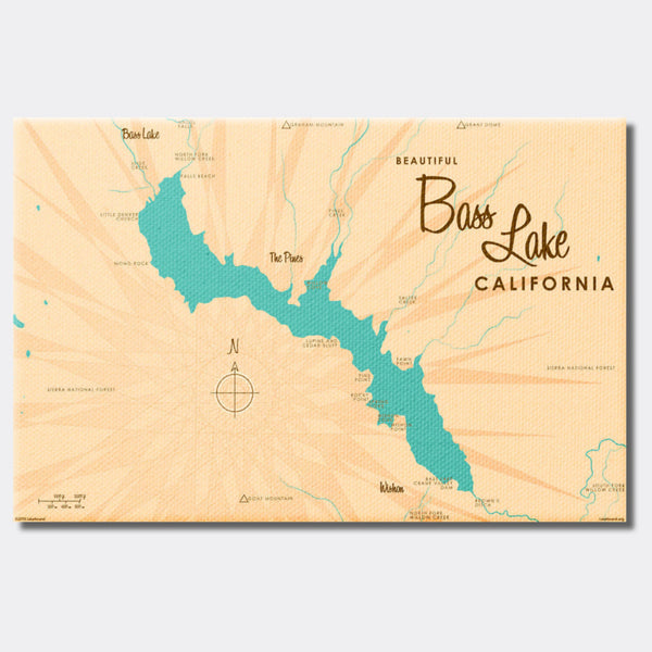 Bass Lake California, Canvas Print