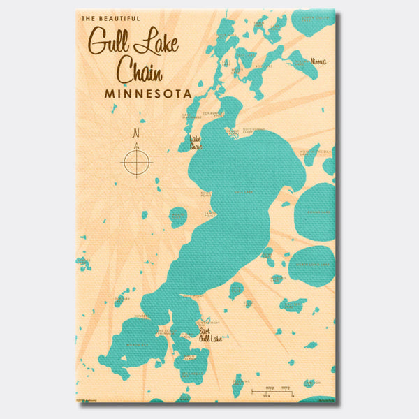 Gull Lake Chain Minnesota, Canvas Print