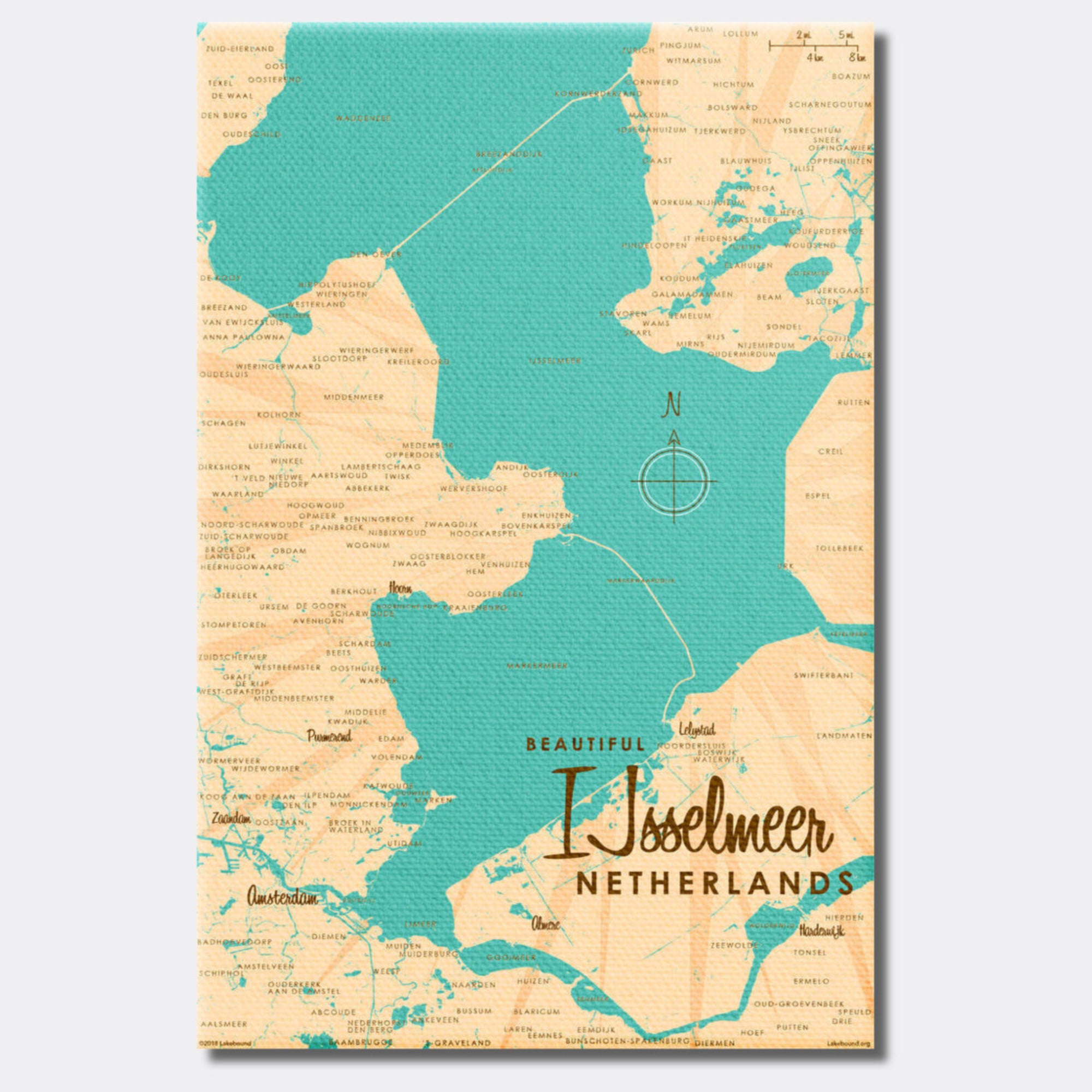 IJsselmeer Netherlands, Canvas Print