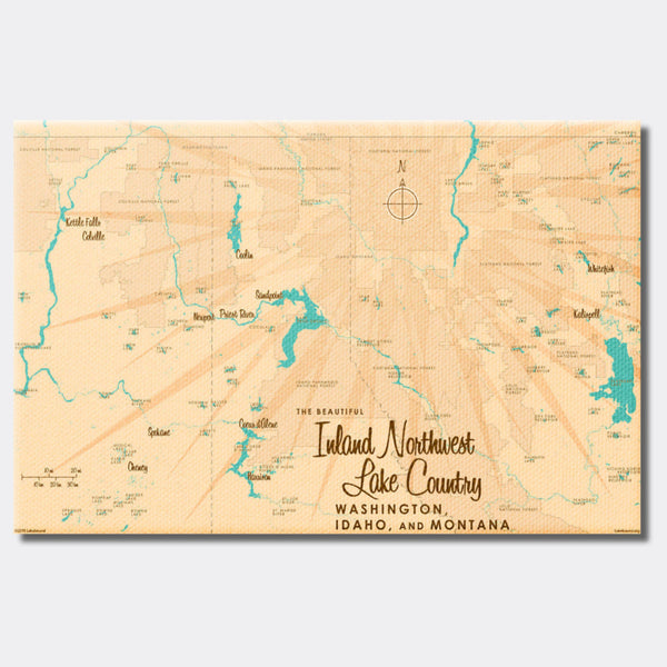 Inland Northwest Lake Country WA ID Montana, Canvas Print