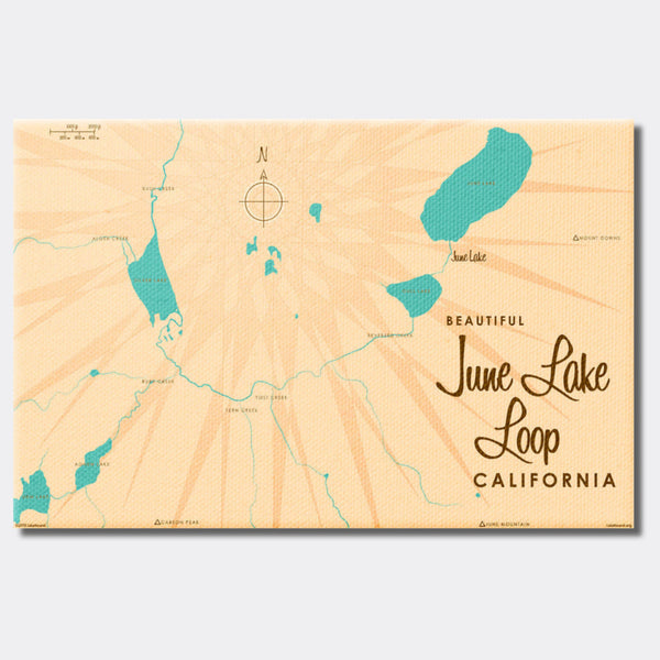 June Lake Loop California, Canvas Print