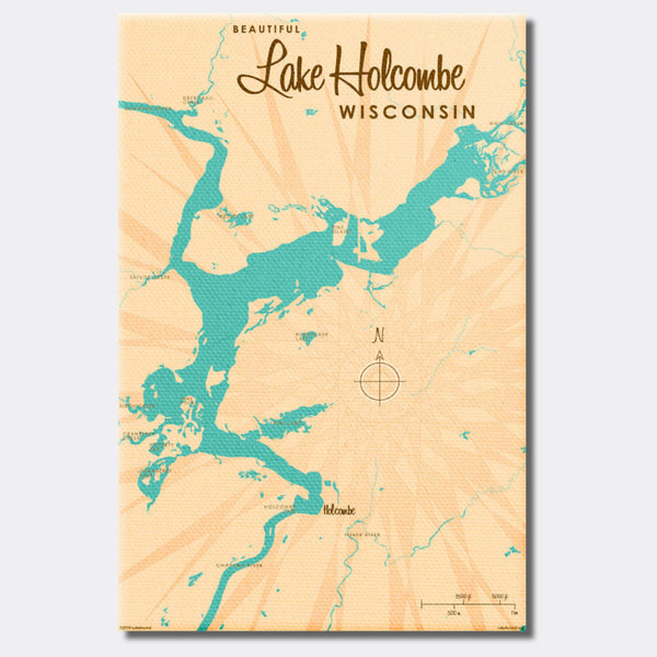 Lake Holcombe Wisconsin, Canvas Print