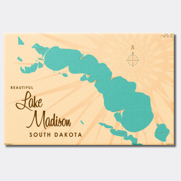 Lake Madison South Dakota, Canvas Print