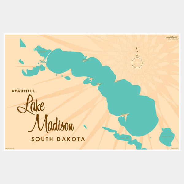 Lake Madison South Dakota, Paper Print