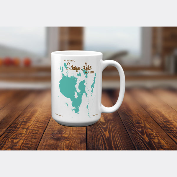 Sebago Lake Maine, 15oz Mug
