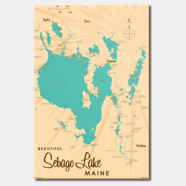 Sebago Lake Maine, Canvas Print