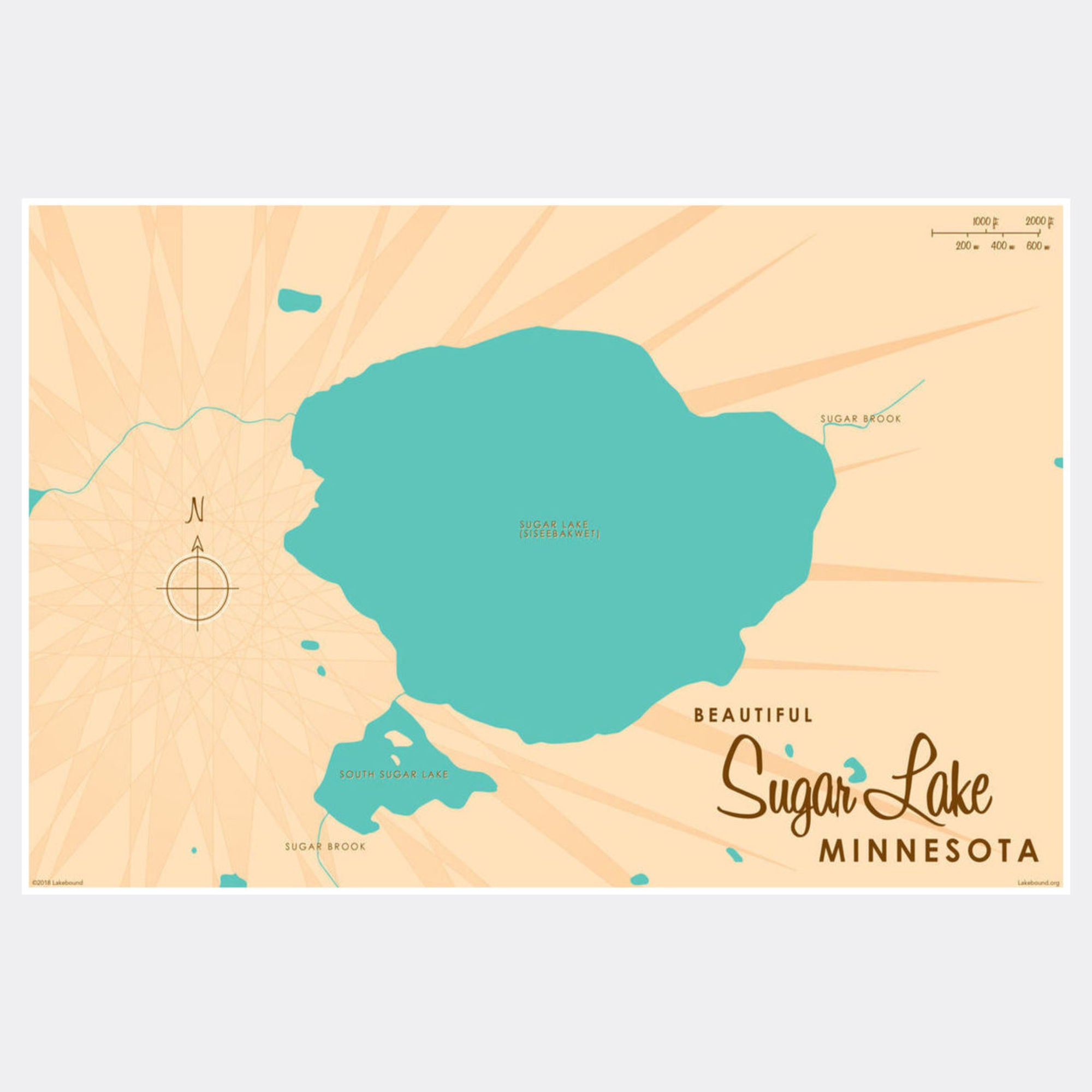 Sugar Lake Minnesota, Paper Print