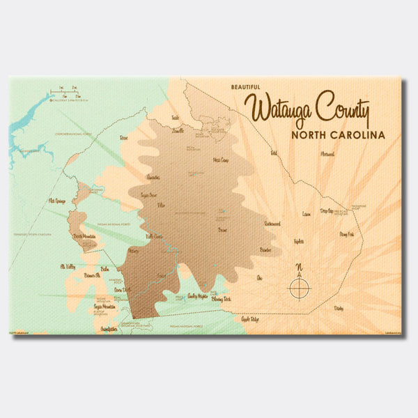 Watauga County North Carolina, Canvas Print