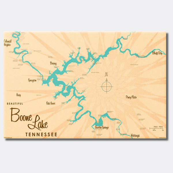 Boone Lake Tennessee, Canvas Print