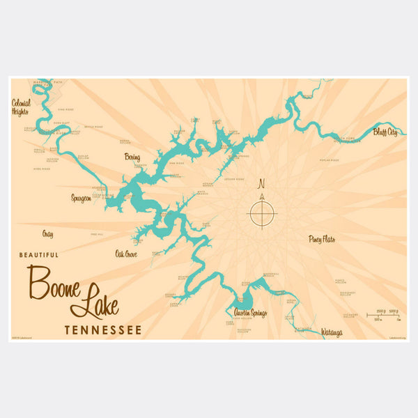 Boone Lake Tennessee, Paper Print
