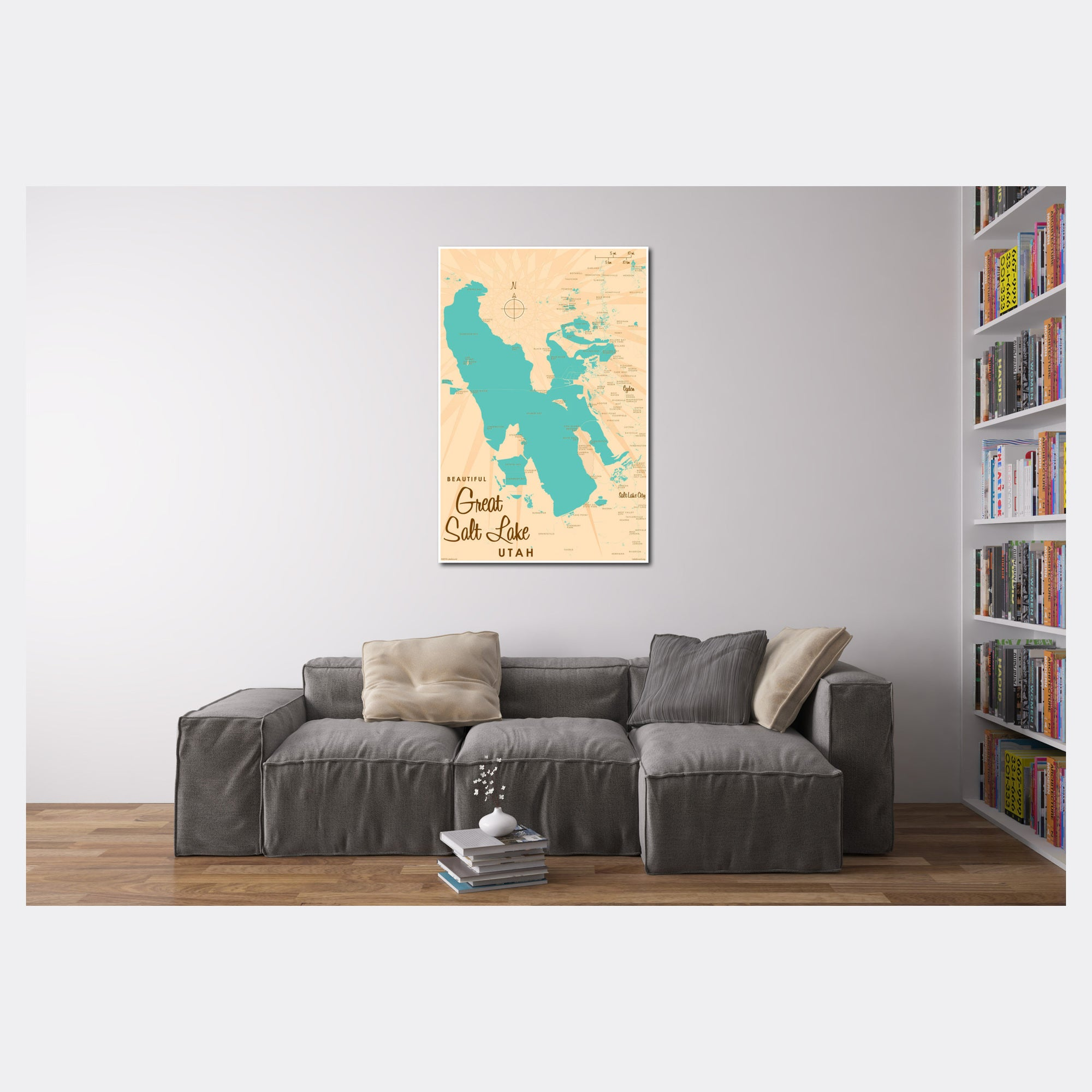 Great Salt Lake Utah, Paper Print