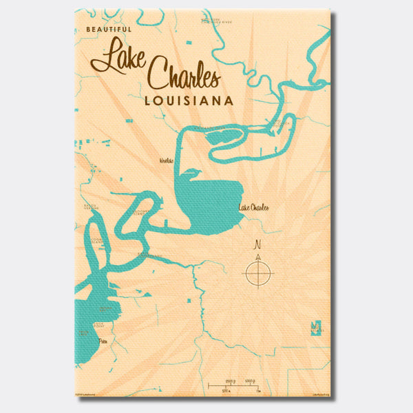 Lake Charles Louisiana, Canvas Print