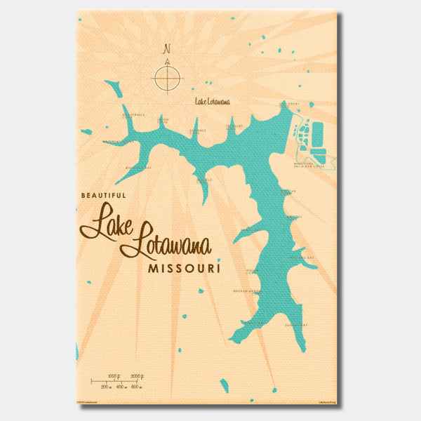 Lake Lotawana Missouri, Canvas Print