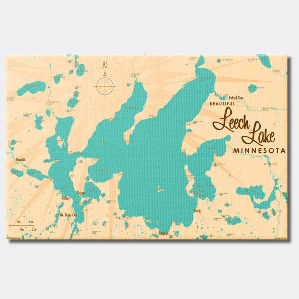 Leech Lake Minnesota, Canvas Print
