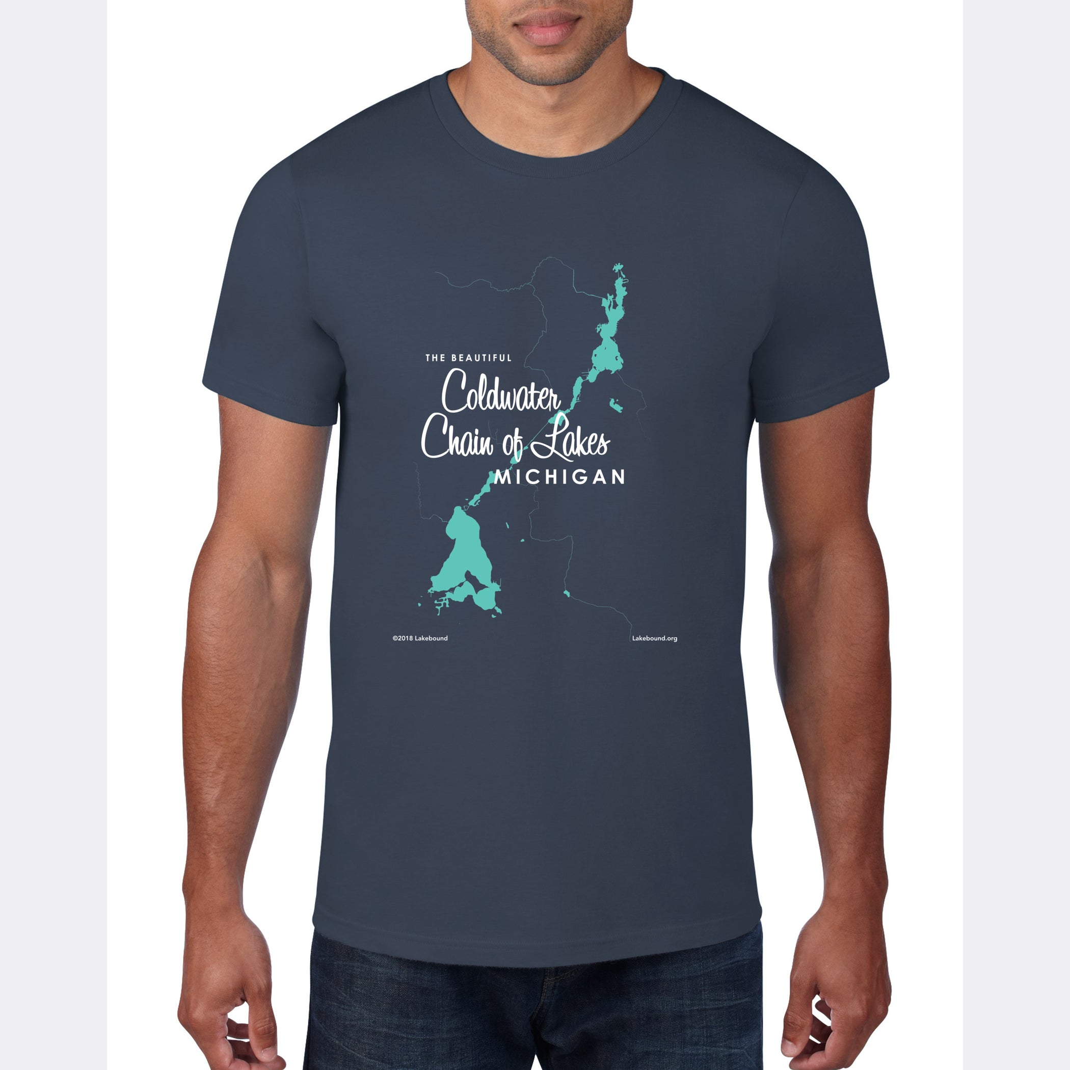 Coldwater Chain of Lakes Michigan, T-Shirt