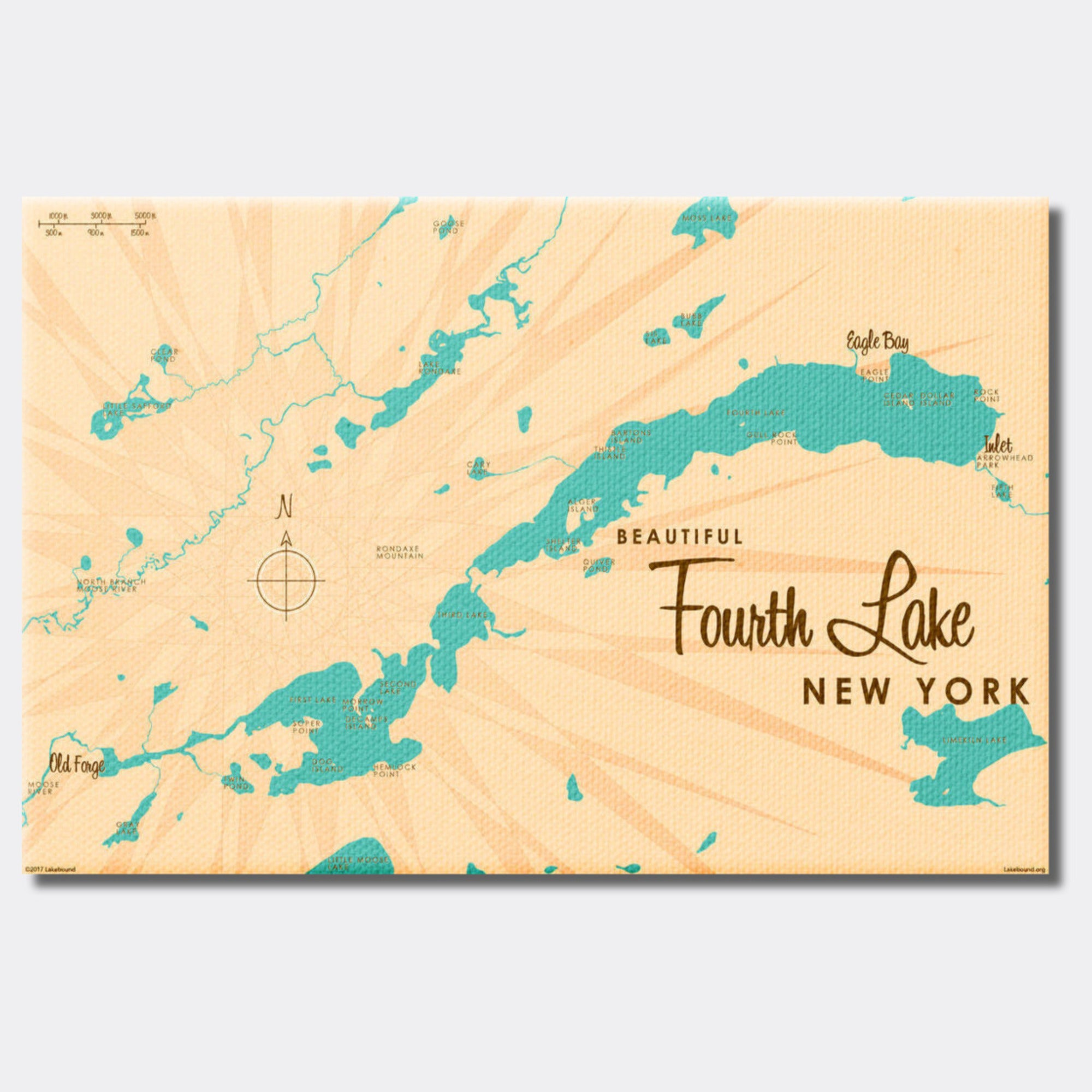 Fourth Lake NY (Herkimer County), Canvas Print