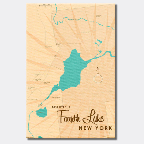 Fourth Lake NY (Warren County), Canvas Print