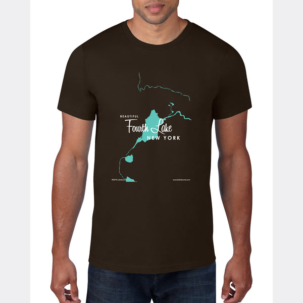 Fourth Lake NY (Warren County), T-Shirt Map Art