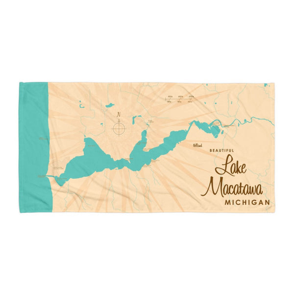 Lake Macatawa Michigan Beach Towel