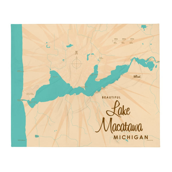 Lake Macatawa Michigan Throw Blanket