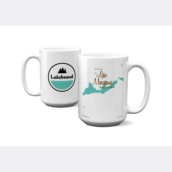 Lake Macatawa Michigan, 15oz Mug