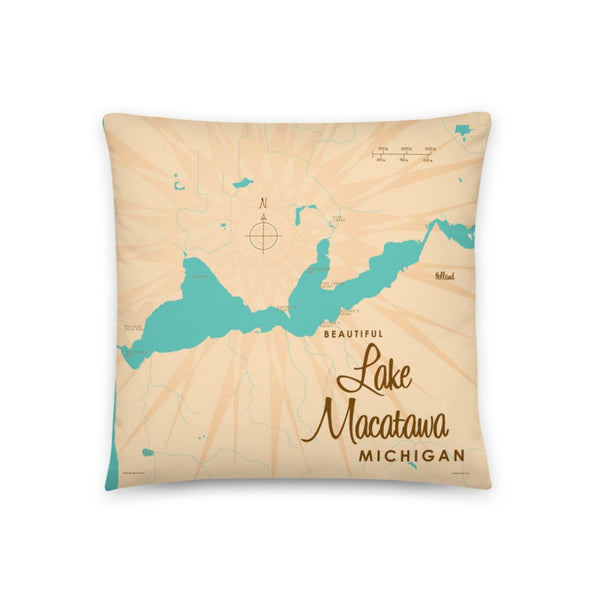 Lake Macatawa Michigan Pillow
