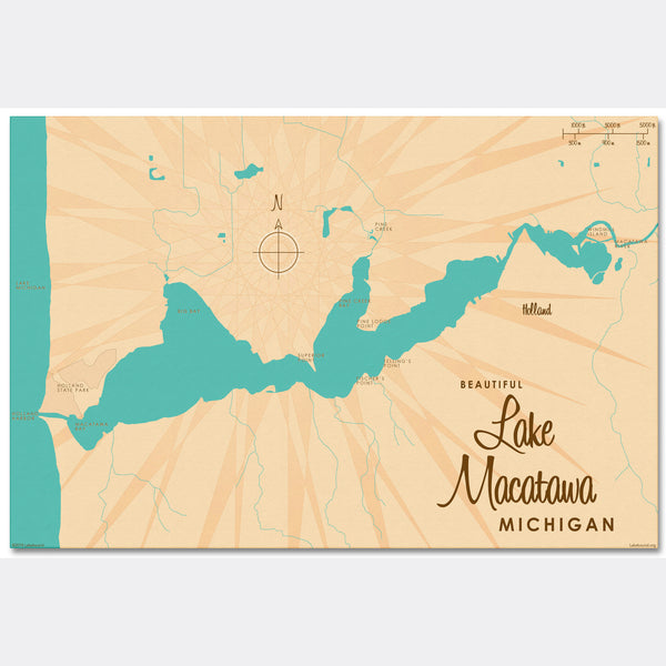 Lake Macatawa Michigan, Canvas Print