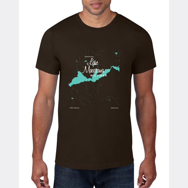 Lake Macatawa Michigan, T-Shirt Map Art