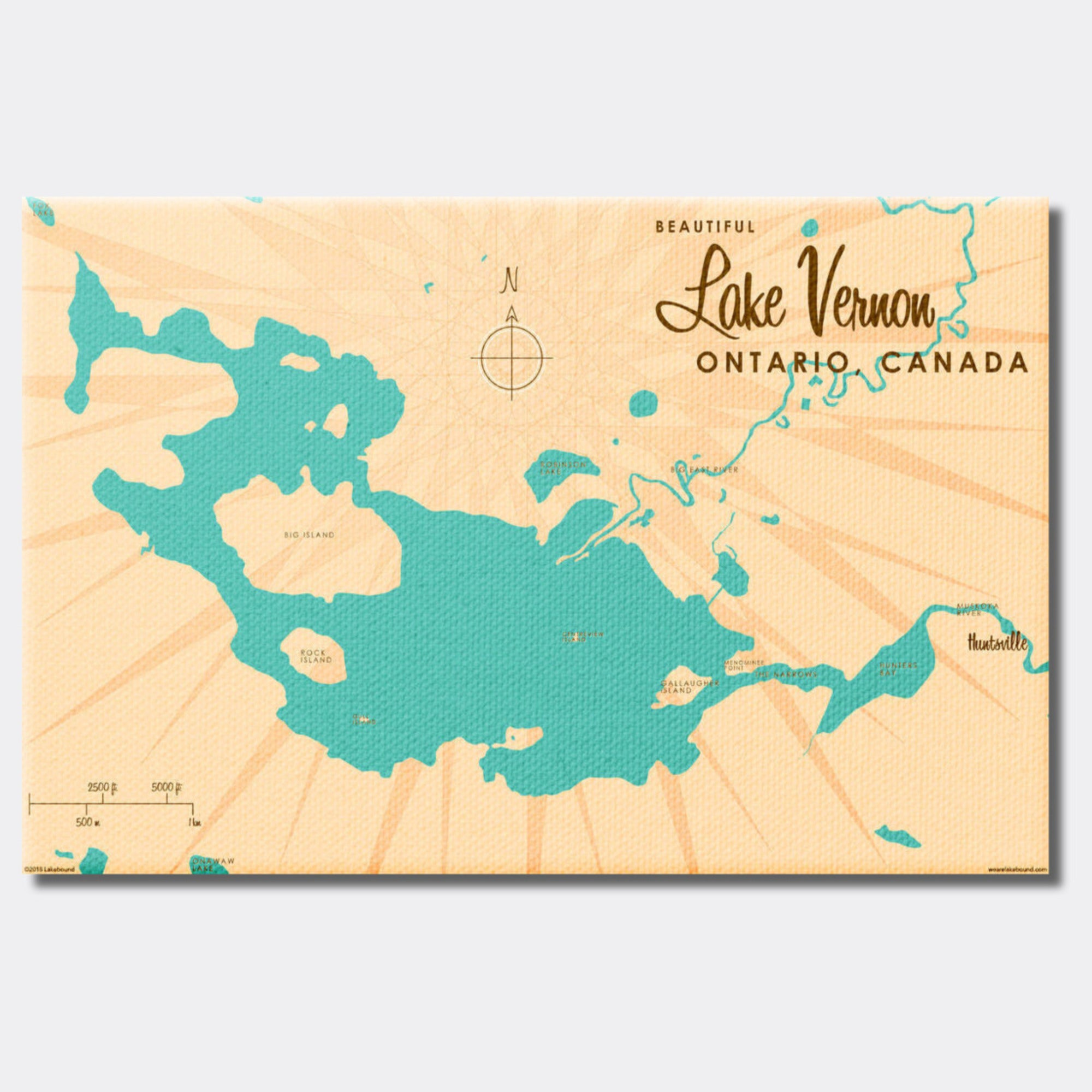 Lake Vernon Ontario, Canvas Print
