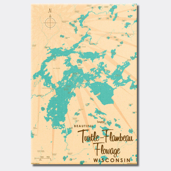 Turtle-Flambeau Flowage Wisconsin, Canvas Print