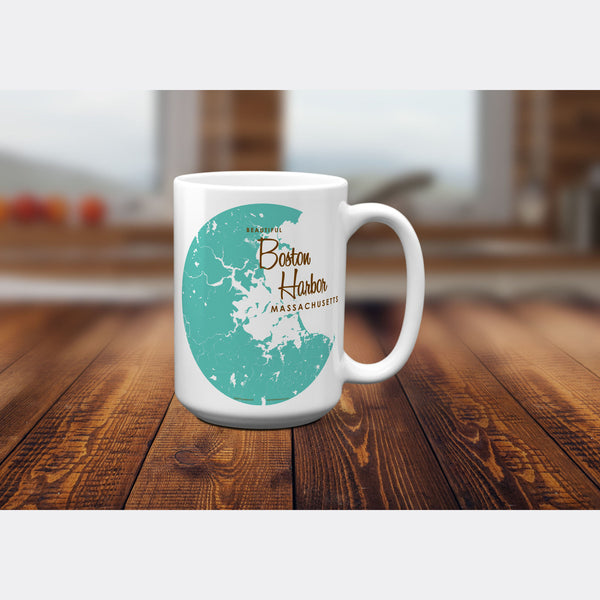 Boston Harbor Massachusetts, 15oz Mug