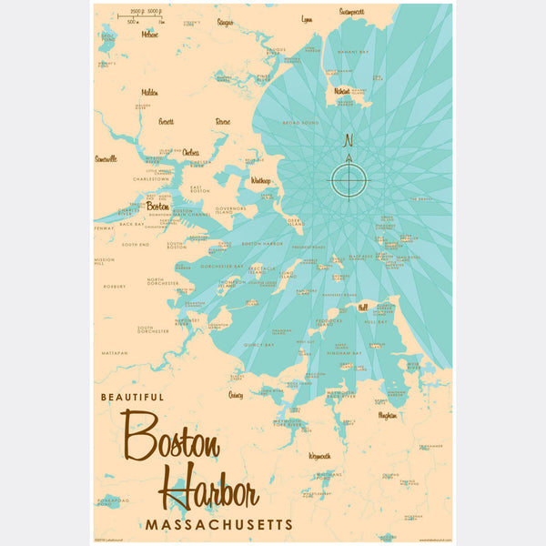 Boston Harbor Massachusetts, Paper Print