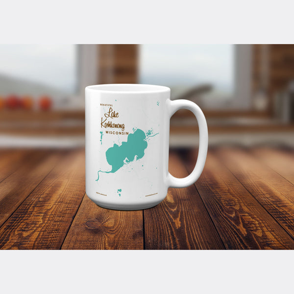 Lake Koshkonong Wisconsin, 15oz Mug