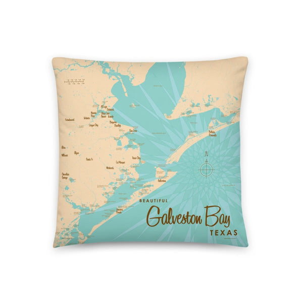 Galveston Bay Texas Pillow