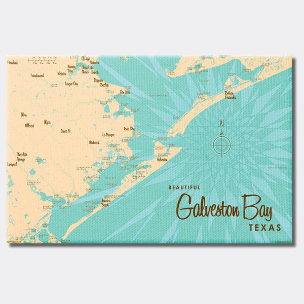 Galveston Bay Texas, Canvas Print